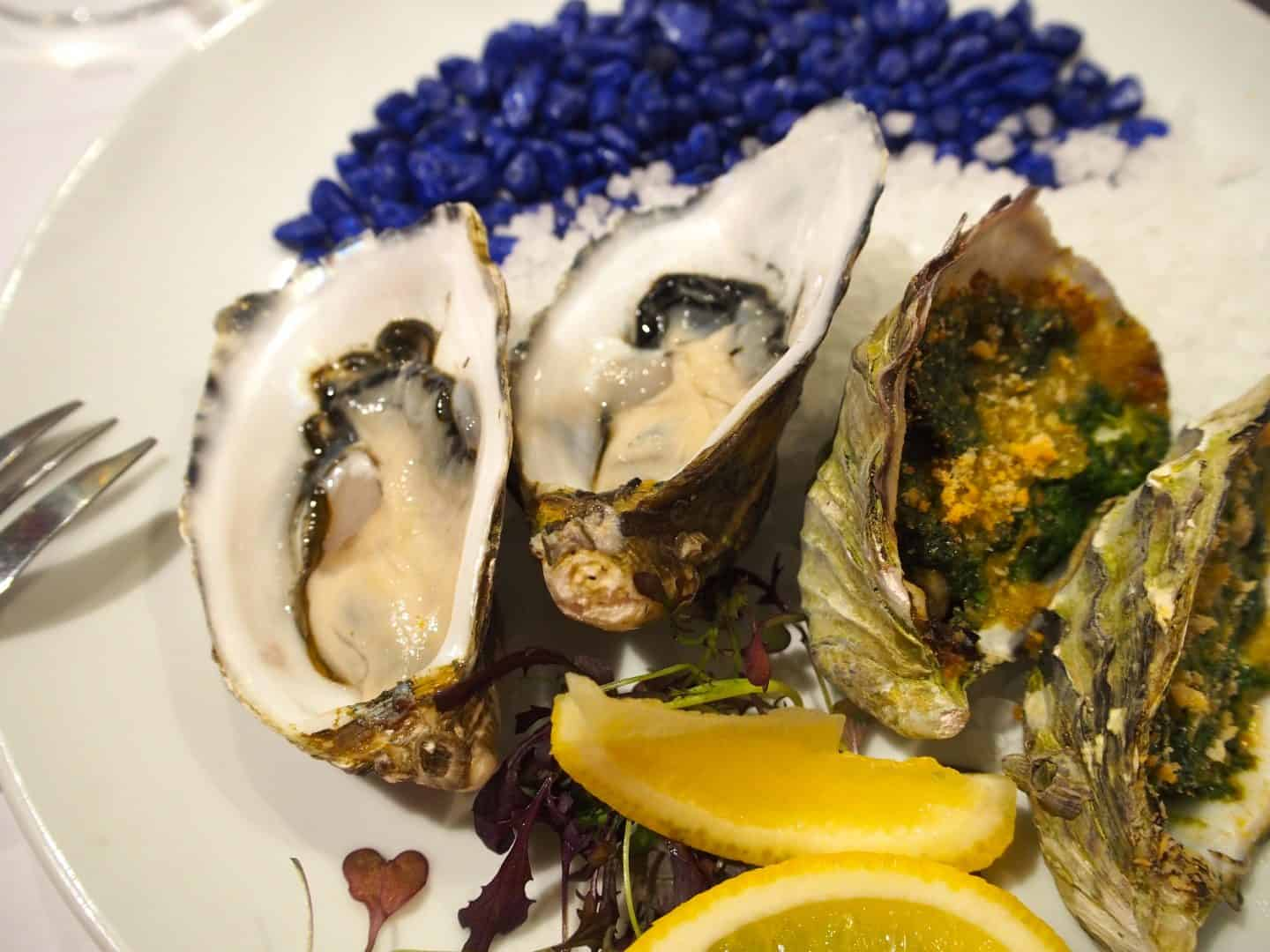 Coffin Bay Oysters Rockefeller and Natural